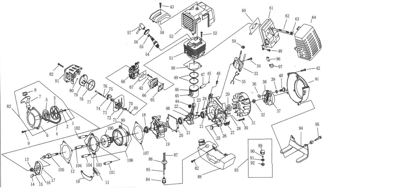 49cc Engine Wiring Diagram Schematic Trusted Diagrams Mini Quad Pocket Bike Schematics 100cc